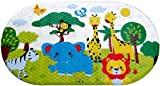 Salinka - Anti Slip Baby Bath Mat - Non slip mat - Many Suction Cups - Durable Mildew Mold Resistant PVC - Colorful Design - Handy Bag for Easy Transport - Free Ebook