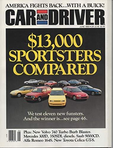Car and Driver Magazine, June 1990 (Vol 35, No. 12)