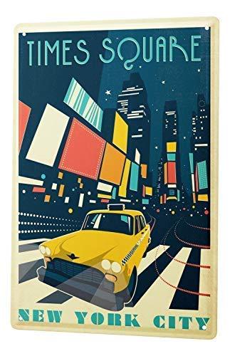 qidushop Deco City Time Square - Cartel de Metal Decorativo ...