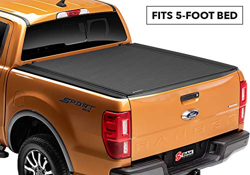 BAK Revolver X4 Hard Rolling Truck Bed Tonneau Cover | 79332 | fits 2019 Ford Ranger, 5' Bed