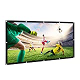 HiCool Projection Screen, 100 Inch Projector Screen 16:9 HD Foldable Portable Anti-Crease Projector Movies Screen for Outdoor Indoor Home Cinema Theater Presentation Support Front & Rear Projection