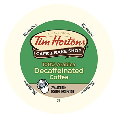 - Tim Hortons Decaffeinated Single Serve Coffee Cups, 96 Count (Packaging May Vary)