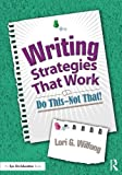 Writing Strategies That Work