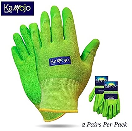 Bamboo Gardening Gloves for Women & Men (2 pairs pack) Ultra-Premium &  Breathable to Keep Hands Dry - Textured Grip to Reduce Slipping Garden &  Work