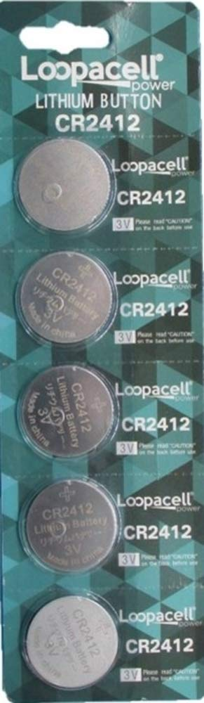 Loopacell CR2412 CR 2412 Lithium 3V 5 Batteries
