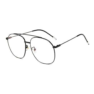 eca94040beea0 Retro aviador Metal Anteojos Lente Claro Gafas gafas los Años Sesenta  clásicos Para Mujer y Hombre  Amazon.es  Ropa y accesorios