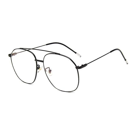 fc0bcecde4 Retro aviador Metal Anteojos Lente Claro Gafas gafas los Años Sesenta  clásicos Para Mujer y Hombre: Amazon.es: Ropa y accesorios
