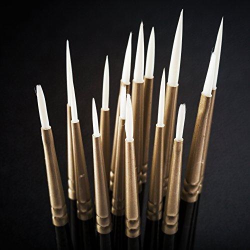Arteza Detail Paint Brush - Hand Made - Taklon Hair (Set of 15)