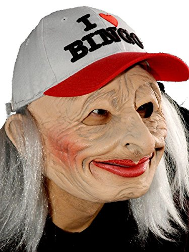 Bingo Halloween Costume (Zagone Oh 69 Mask, Old Woman, Bingo Baseball Cap)