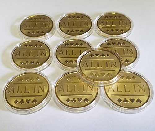 10x All In Poker Chips / Gold Clad Card Protector Bounty Chip Etc. by QuEmpire