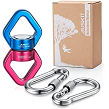 Swing Swivel, AusKit 30KN Safest Rotational Device Hanging Accessory with Carabiners For Web Tree Swing, Swing Setting, Aerial Dance, Children's Swing, Hanging Hammock