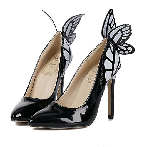 Noir Toe à Mouth Xianshu Chaussures Pointe hauts Butterfly talons Shawow 7qnISz