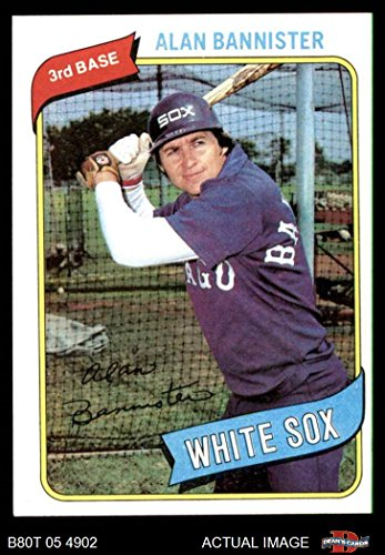 (1980 Topps # 608 Alan Bannister Chicago White Sox (Baseball Card) Dean's Cards 7 - NM White Sox )