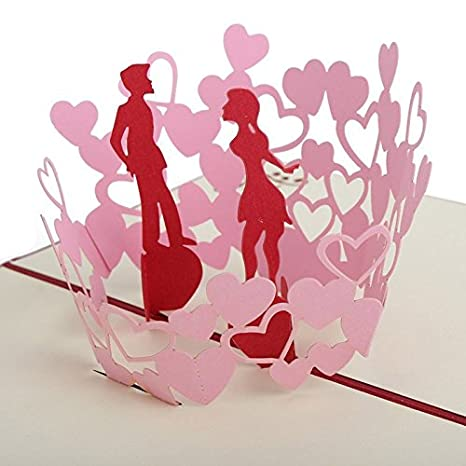 Amazon.com: San Valentín Regalo 3d Pop Up Cards – decir Love ...