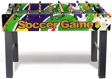 YQSHYP Tabla clásico futbolín, Mesa de Mini Partido de fútbol, Interior y Deportes al Aire Libre de Juegos, Adecuado for Adultos y niños, 121 * 61 * 79cm: Amazon.es: Deportes y aire libre