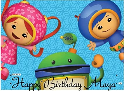 Marvelous Amazon Com Team Umizoomi Edible Cake Image Topper Frosting Sheet Personalised Birthday Cards Paralily Jamesorg