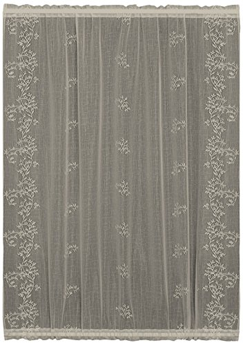 Heritage Lace Sheer Divine Door Panel, 42 by 72-Inch, White (Flat White Panel Door)