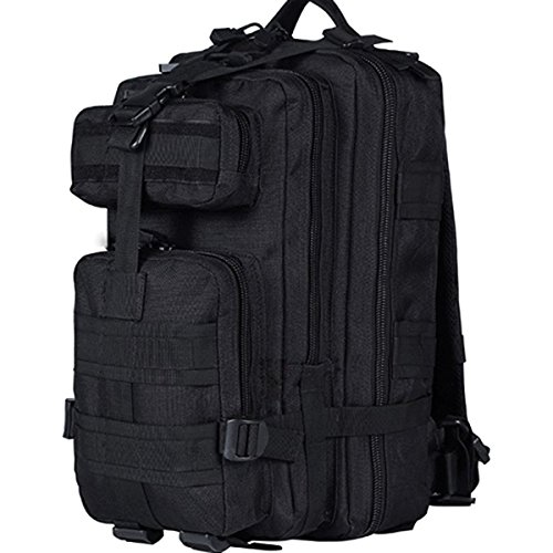 CVLIFE Outdoor Tactical Backpack Military Rucksacks for Camping Hiking 30L (Black)