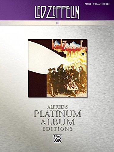 Download Led Zeppelin -- II Platinum: Piano/Vocal/Chords (Alfred's Platinum Album Editions) PDF