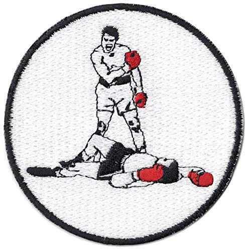 Boxing Legend Best Knockout Round Logo Embroidered Iron On Patch