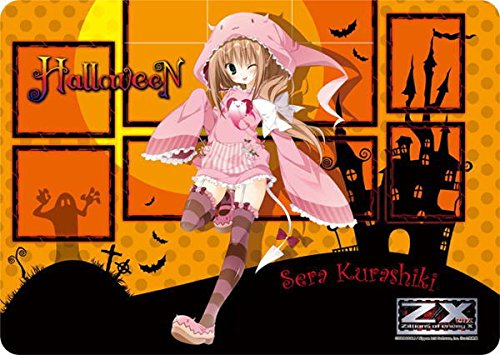 Sera Kurashiki Halloween Z/X Ignition Character Rubber Card Game Play Mat Anime Girl Cosplay Zillions of Enemy X Illust. Kira Inugami by Broccoli