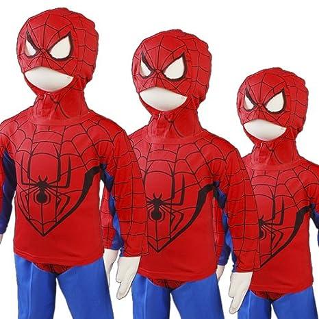 D304-5 New Spiderman Niños del Carnaval Cosplay partido GR de ...