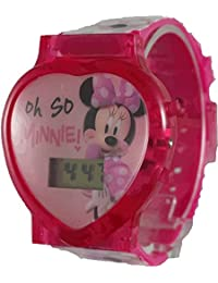 Minnie Mouse Girl's Pink Watch with Flashing Lights (MBT3691)