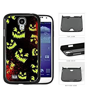 Halloween Scary Face Glow And Blood Splatter Hard Plastic Snap On Cell Phone Case Samsung Galaxy S4 SIV I9500Kimberly Kurzendoerfer