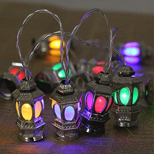 Ramadan/Eid Deluxe Indoor LED Light String, KCPer Safe Low Voltage Transformer for Garden Patio Home Indoor (Multicolor)