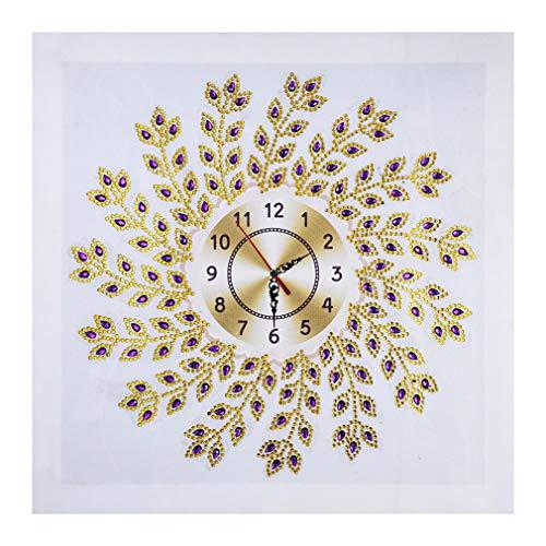 - Diamond Painting DIY 5D Special Shape Rhinestones, ABEUTY Gold Clock Mandela, Partial Drill Crystal Diamond Dotz Kits