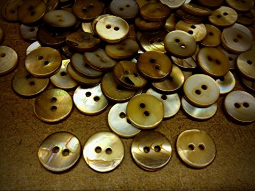 NewButtons 13 VERY RARE BROWN WASHIBODO SHELL BUTTON 13mm 1/2