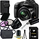 Panasonic Lumix DMC-FZ70 Digital Camera + 32GB SDHC Memory Card + USB SDHC Memory Card Reader + UV FILTER 55MM + CC UV, Florescent, Polarizer Filter Kit (Protect Your Lens!) + Weather Resistant Carrying Case w/Strap + Memory Card Wallet + Two Rechargeable Lithium Ion Replacement Battery + Rapid External Ac/Dc Charger Kit