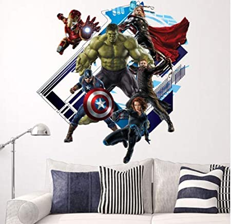 ZKPMJH Super héroe Avengers Hulk Shell Y Stick Etiqueta de La ...
