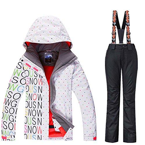 LEIT YFF Esquí Esquí Mujer Traje Impermeable Pantalones Chaqueta ...