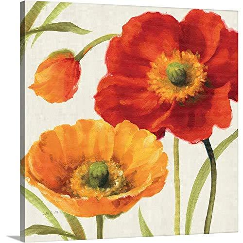 Poppies Melody III Canvas Wall Art Print, 16 x16 x1.25