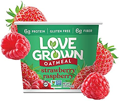 Love Grown Hot Oats, Strawberry Raspberry, 2.22 Ounce (Pack of 8 ...