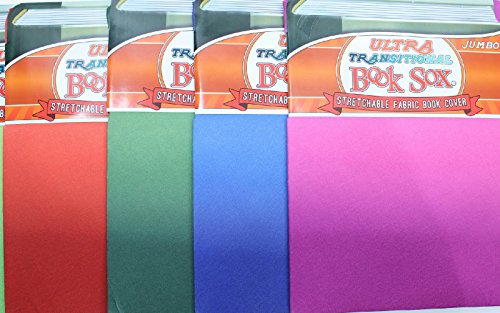 Fabric Book Covers Office Depot : Ultra transitional jumbo book sox stretchable fabric cover