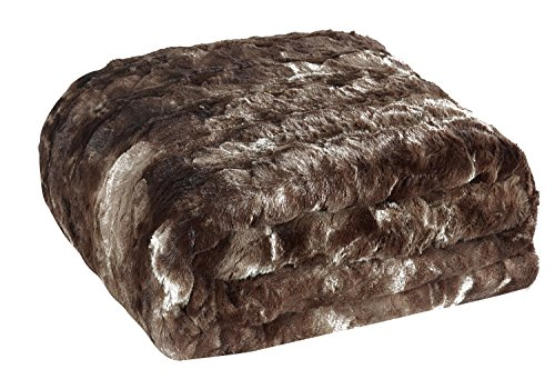 Animal Faux Fur Throw (Brielle Faux Fur Oversized Throw, 50