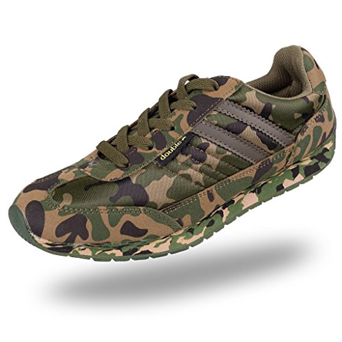 DOUBLESTAR MR Men & Women's Camouflage Shoes for Outdoors Hunting, Climbing, Hiking, and Training--Green 6.5 B(M) US Women / 5.5 D(M) US Men