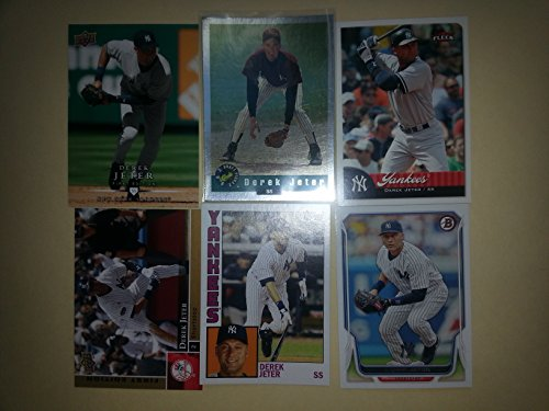 2012 Donruss Classics Baseball Card - Ultimate Derek Jeter Card Collection Gift Set Lot. Includes Jeter 1992 Classic Draft Picks Rookie Card, 2012 Topps Archives Jeter, 2008 Upper Deck First Edition Jeter, 2007 Fleer Jeter, 2009 Upper Deck First Edition Jeter and His 2014 Bowman Card From His Last Season. Great Set Chronicles His HOF New York Yankees Career. Plus Bonus 2006 Topps Derek Jeter Rookie of the Week Baseball Card (1993 Draft Pick Reprint)