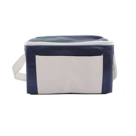 Small Portable Picnic Tote Thicken Waterproof Oxford Cloth Cooler Bag Grill Accessories Tool Set for Outdoor Sports Camping BBQ, Holidays Party, Beach, Picnics YCB005 (Blue)