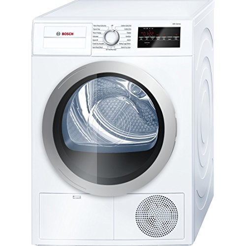 Bosch 500 Series 4.0 Cu. Ft. 15-Cycle High-Efficiency Compact Electric Dryer White/Silver WTG86401UC