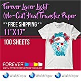Forever Laser Light (No-Cut) Heat Transfer Paper 11''x17'' 100 sheets