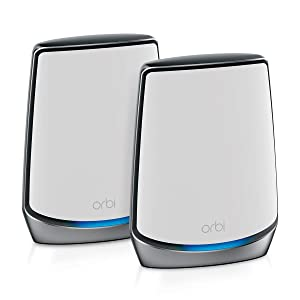 NETGEAR Orbi Whole Home Tri-Band Mesh WiFi 6 System (RBK852) – Router With 1 Satellite Extender | Coverage up to 5,000 sq. ft. and 60+ Devices | 11AX Mesh AX6000 WiFi (Up to 6Gbps)