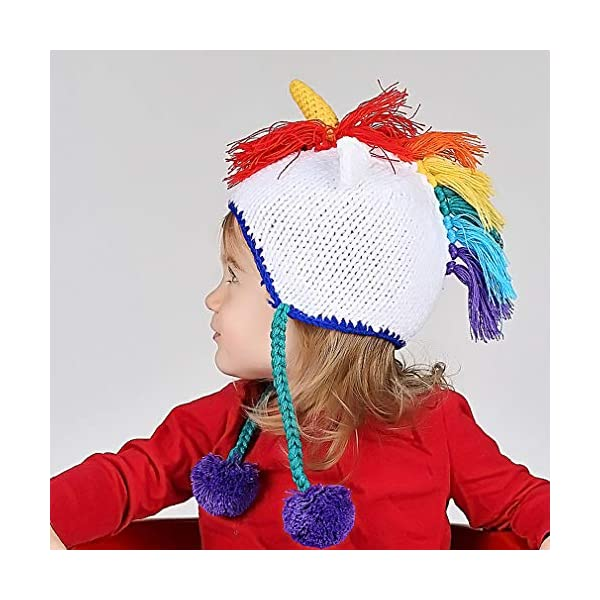 Huggalugs Baby, Toddler and Adult Unicorn Beanie Hat, Legwarmers, Pants 9