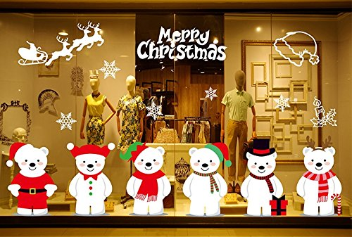 Invictus Pub Can Removable Christmas Tree Elk Window Decoration Window Film Art Decal Window Clings 21.3