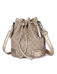 MSXUAN Drawstring Bucket Bag Handbags Shoulder Bag Purses Crossbody Bags For Women with Long Shoulder Strap