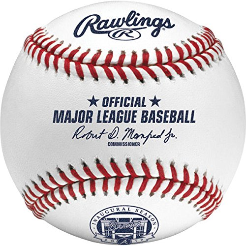 Rawlings Official 2017 Atlanta Braves Suntrust Park Inaugural Season Baseball   New In Rawlings Display Case