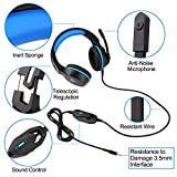 Insmart Gaming Headset for PS4, Over-Ear Gaming Headphones PC Gaming Headset Multi Function Pro Game Headphones with Mic for XBox One, PC , iPhone, Smart Phone, Laptop, iPad, iPod, Mobilephones