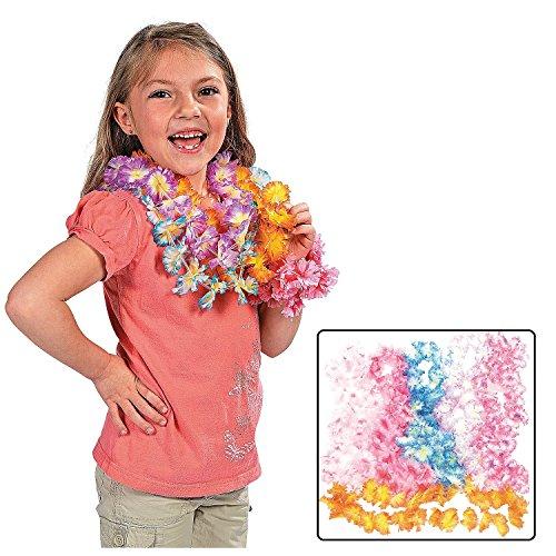 Kids Two-Tone Maui Flower Leis (12 Pack) 38